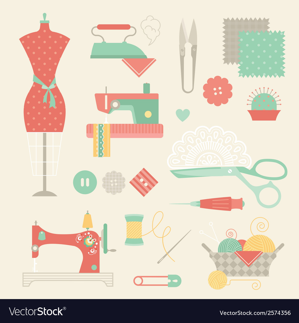 Sewing set vector | Price: 1 Credit (USD $1)