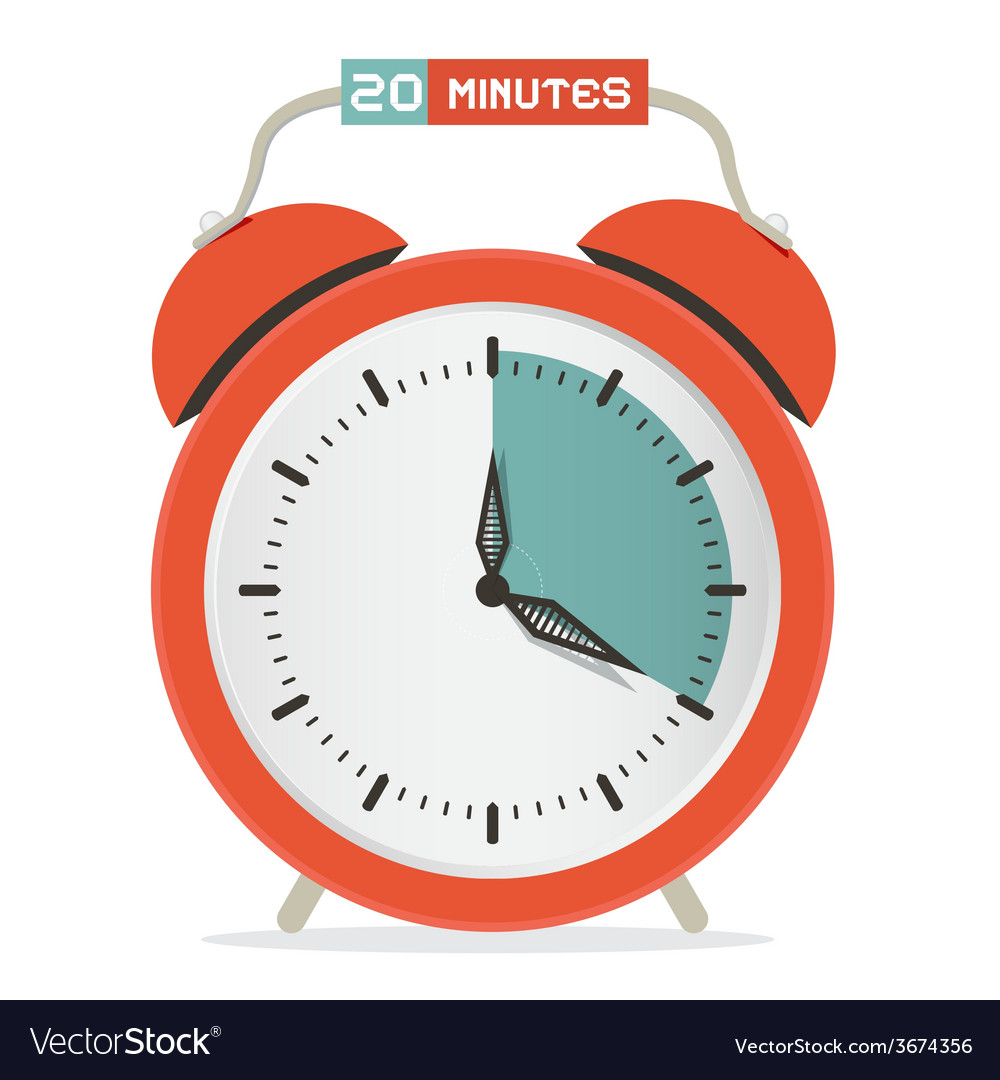 Twenty minutes stop watch - alarm clock vector | Price: 1 Credit (USD $1)