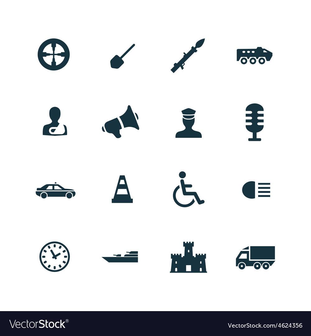 War icons set vector | Price: 1 Credit (USD $1)