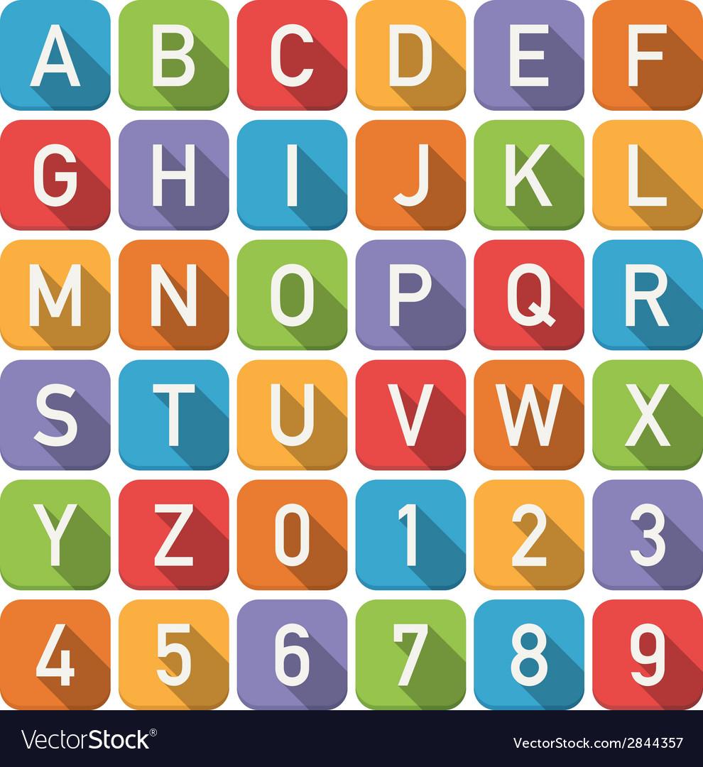 Alphabet icons vector | Price: 1 Credit (USD $1)