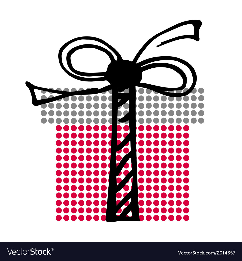 Big present with little circles vector | Price: 1 Credit (USD $1)