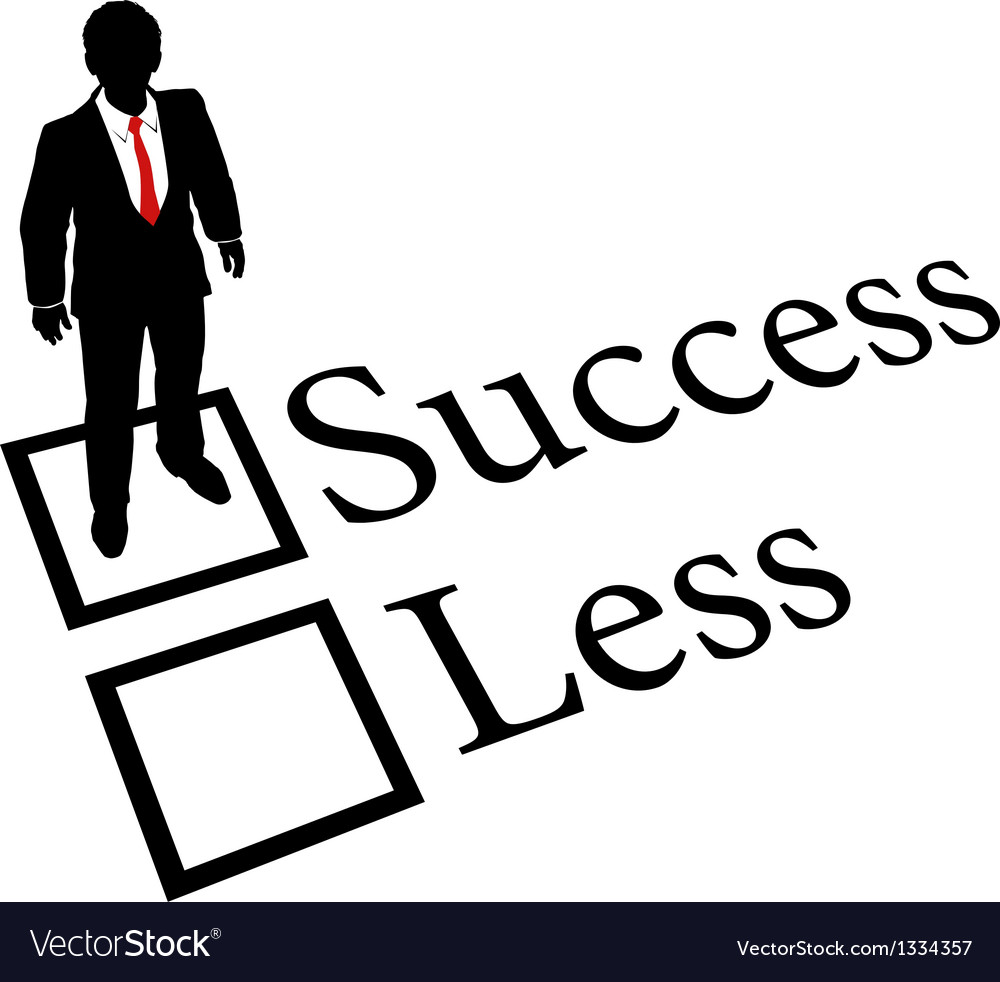 Business person get success not less vector | Price: 1 Credit (USD $1)