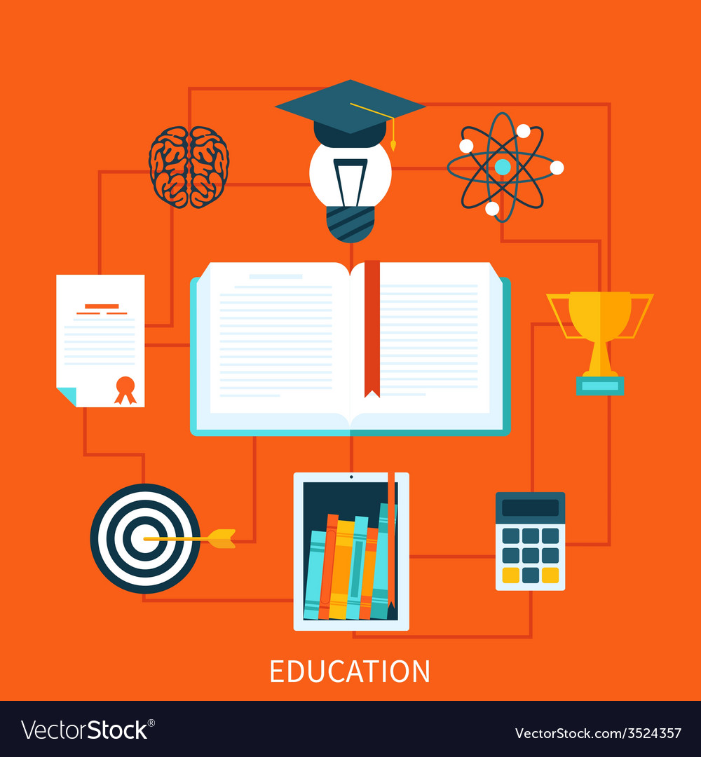 Consept of educational set tools vector | Price: 1 Credit (USD $1)