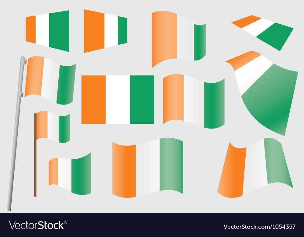 Flag of ivory coast vector | Price: 1 Credit (USD $1)