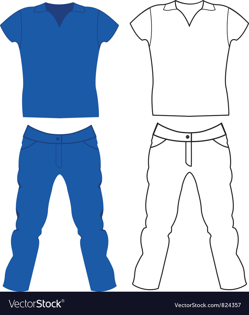 Jeans and t-shirt vector | Price: 1 Credit (USD $1)