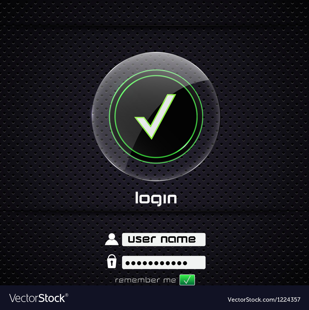 Login page 2 vector | Price: 1 Credit (USD $1)