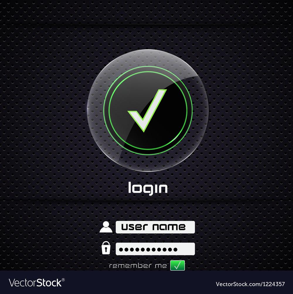 Login page 2 vector | Price: 1 Credit (USD $1)