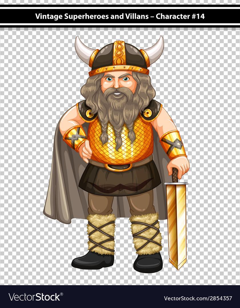Male viking vector | Price: 3 Credit (USD $3)