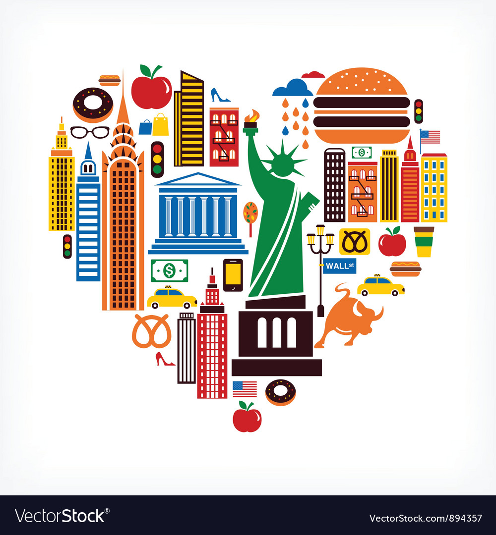 New york love vector | Price: 3 Credit (USD $3)