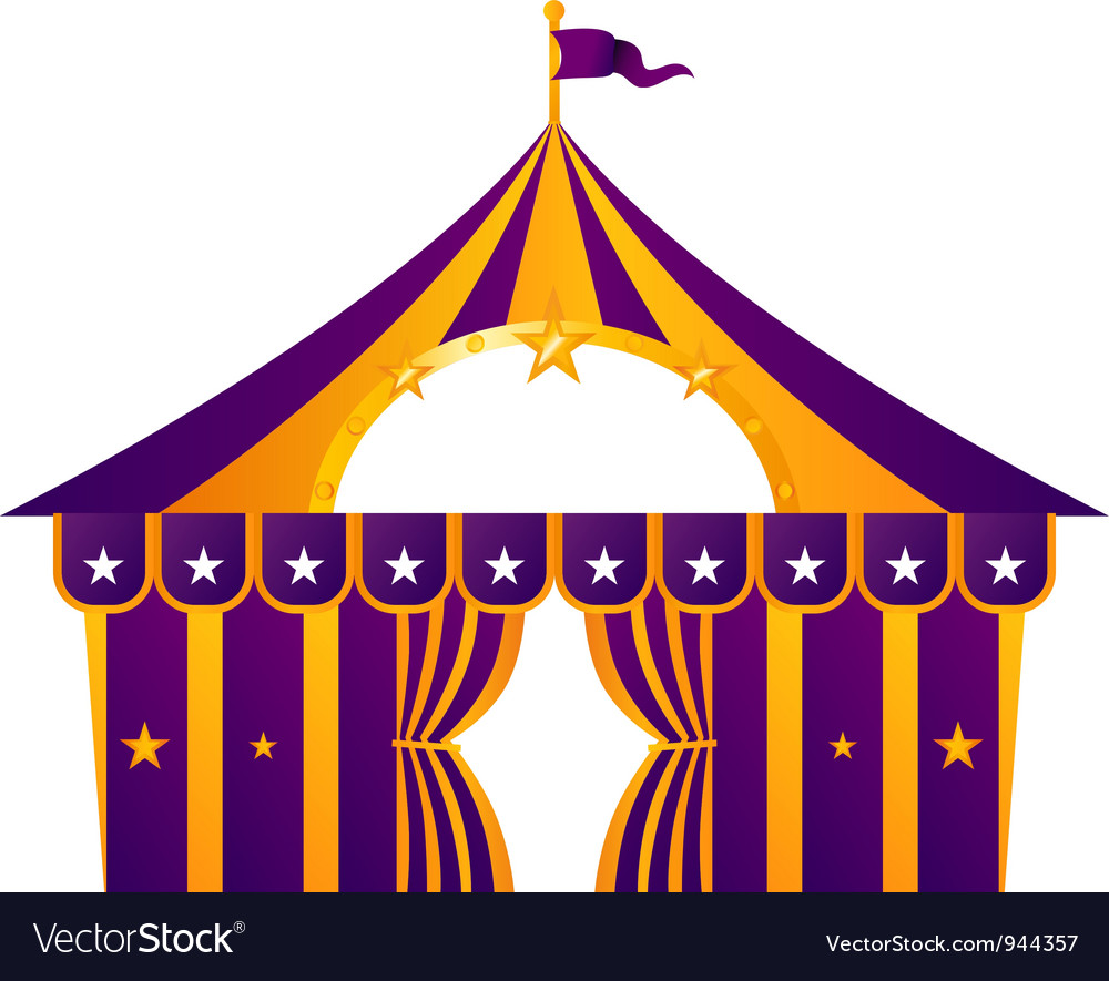 Purple circus tent isolated on white vector | Price: 1 Credit (USD $1)