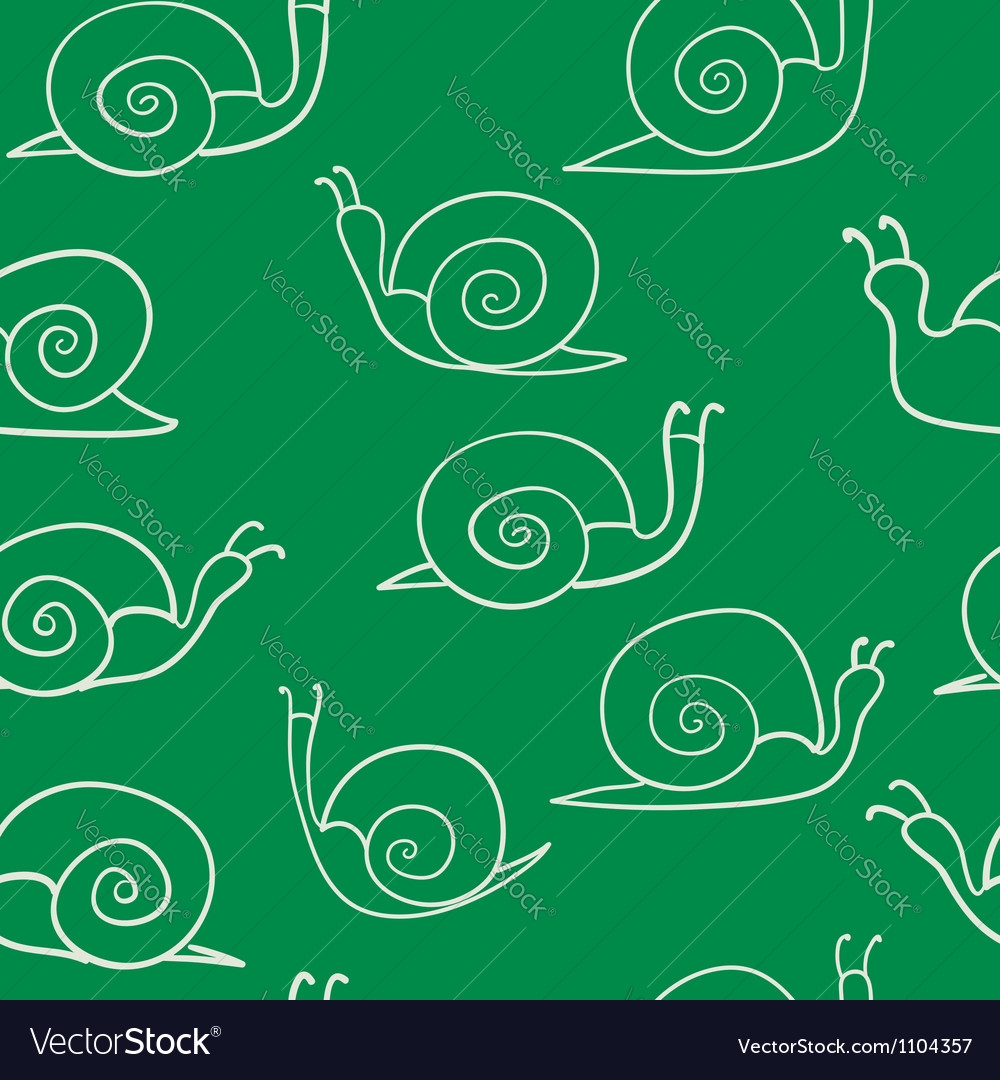 Snail seamless pattern vector | Price: 1 Credit (USD $1)