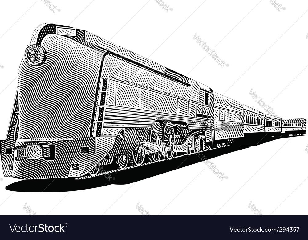 Vintage train vector | Price: 1 Credit (USD $1)
