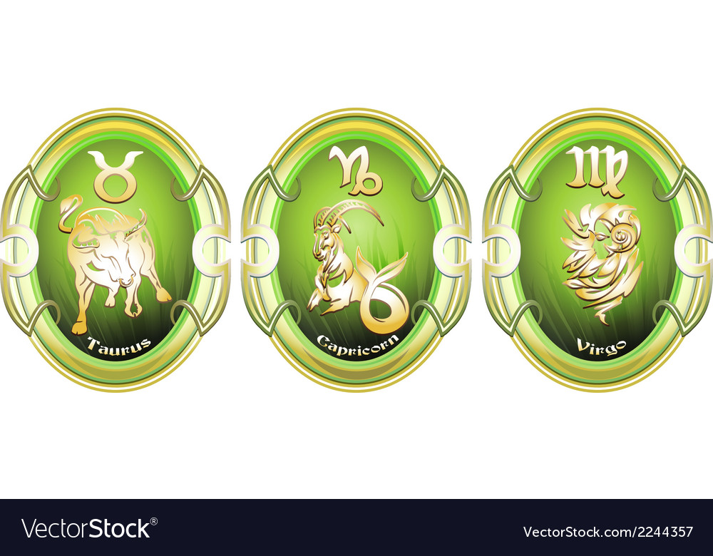 Zodiac signs of earth vector | Price: 1 Credit (USD $1)