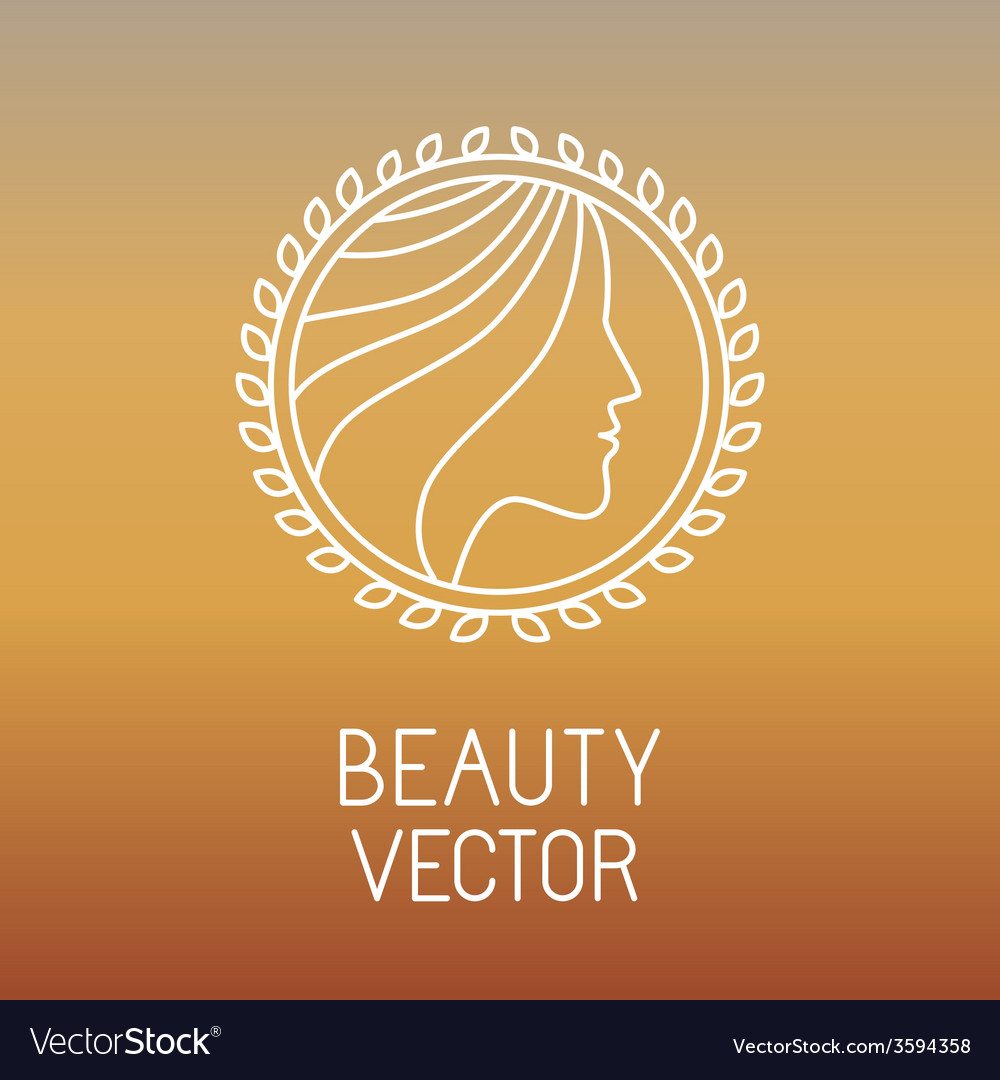 Beauty and spa line logo vector | Price: 1 Credit (USD $1)