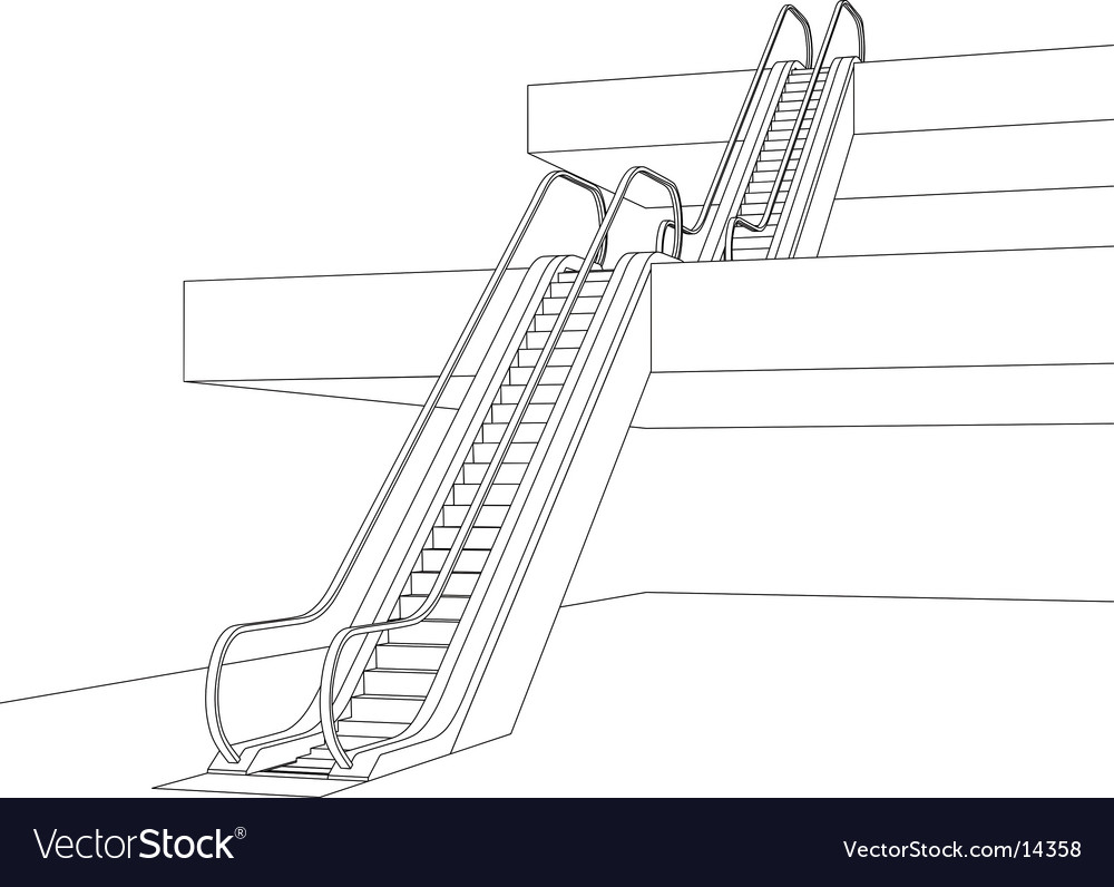 Escalators vector | Price: 1 Credit (USD $1)