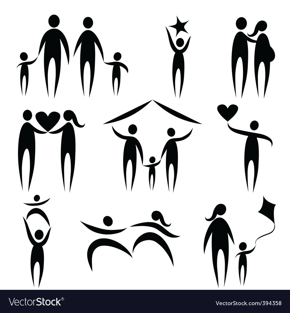 Family symbols vector | Price: 1 Credit (USD $1)