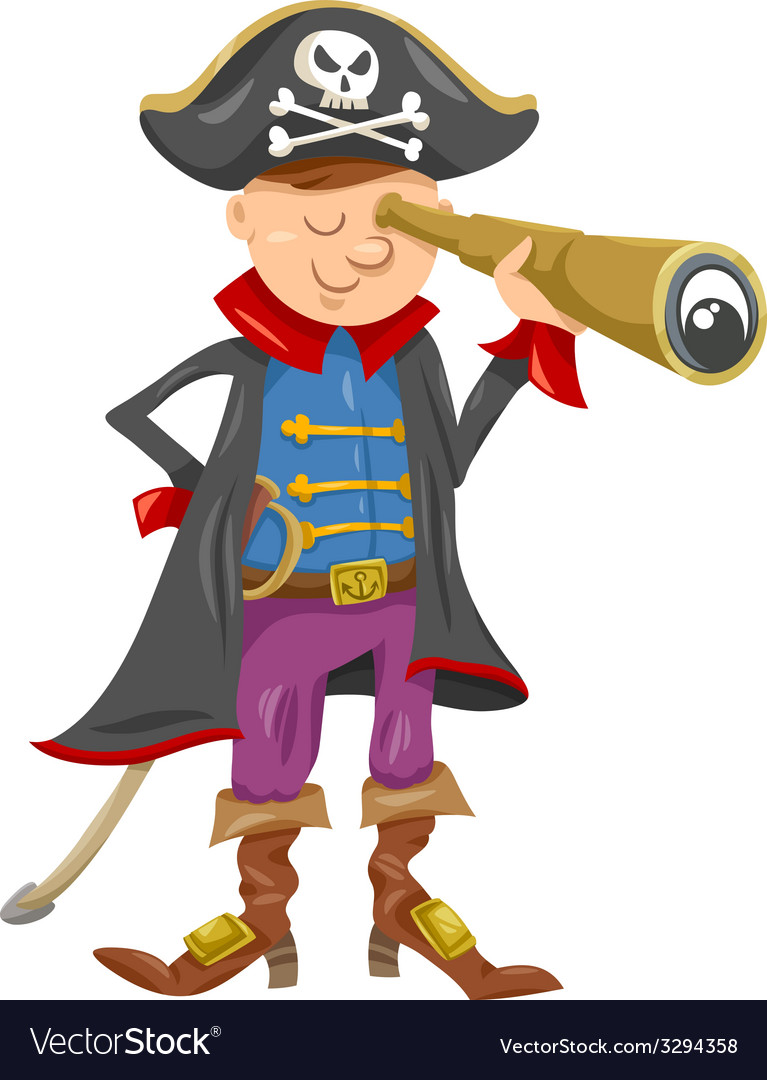 Funny pirate cartoon vector | Price: 1 Credit (USD $1)