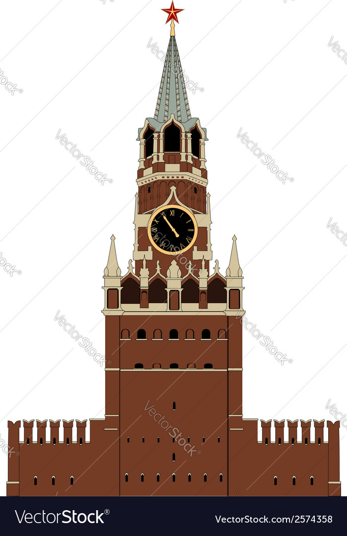 Kremlin tower vector | Price: 1 Credit (USD $1)