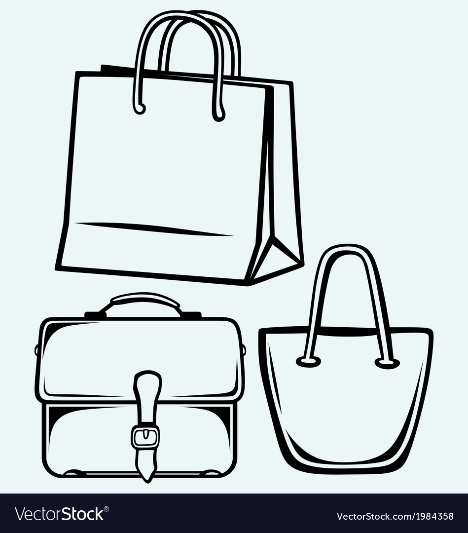 Paper bag and handbag vector | Price: 1 Credit (USD $1)