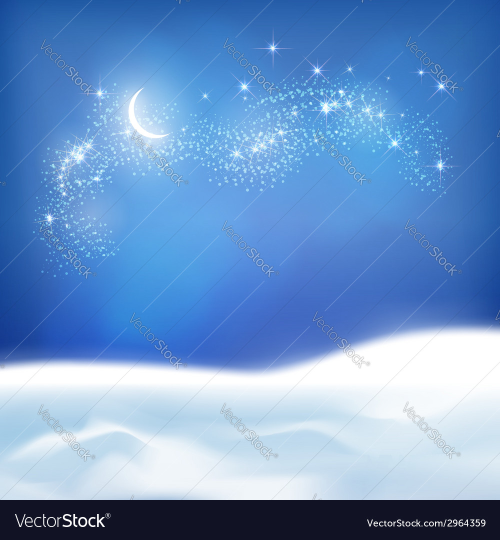 Abstract winter night background vector | Price: 1 Credit (USD $1)