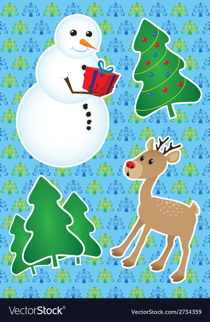 Christmas set - vector | Price: 1 Credit (USD $1)