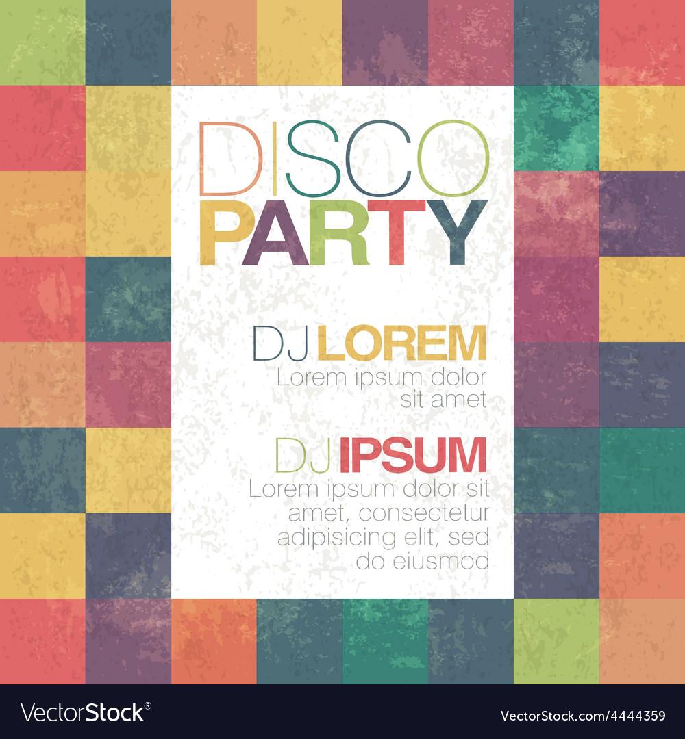 Disco retro party flyer template vector | Price: 1 Credit (USD $1)