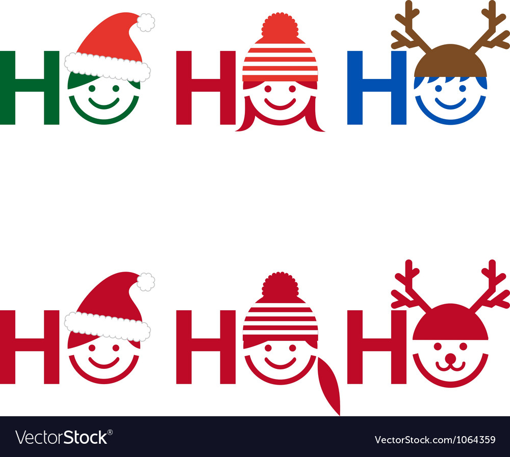 Ho ho ho christmas card vector