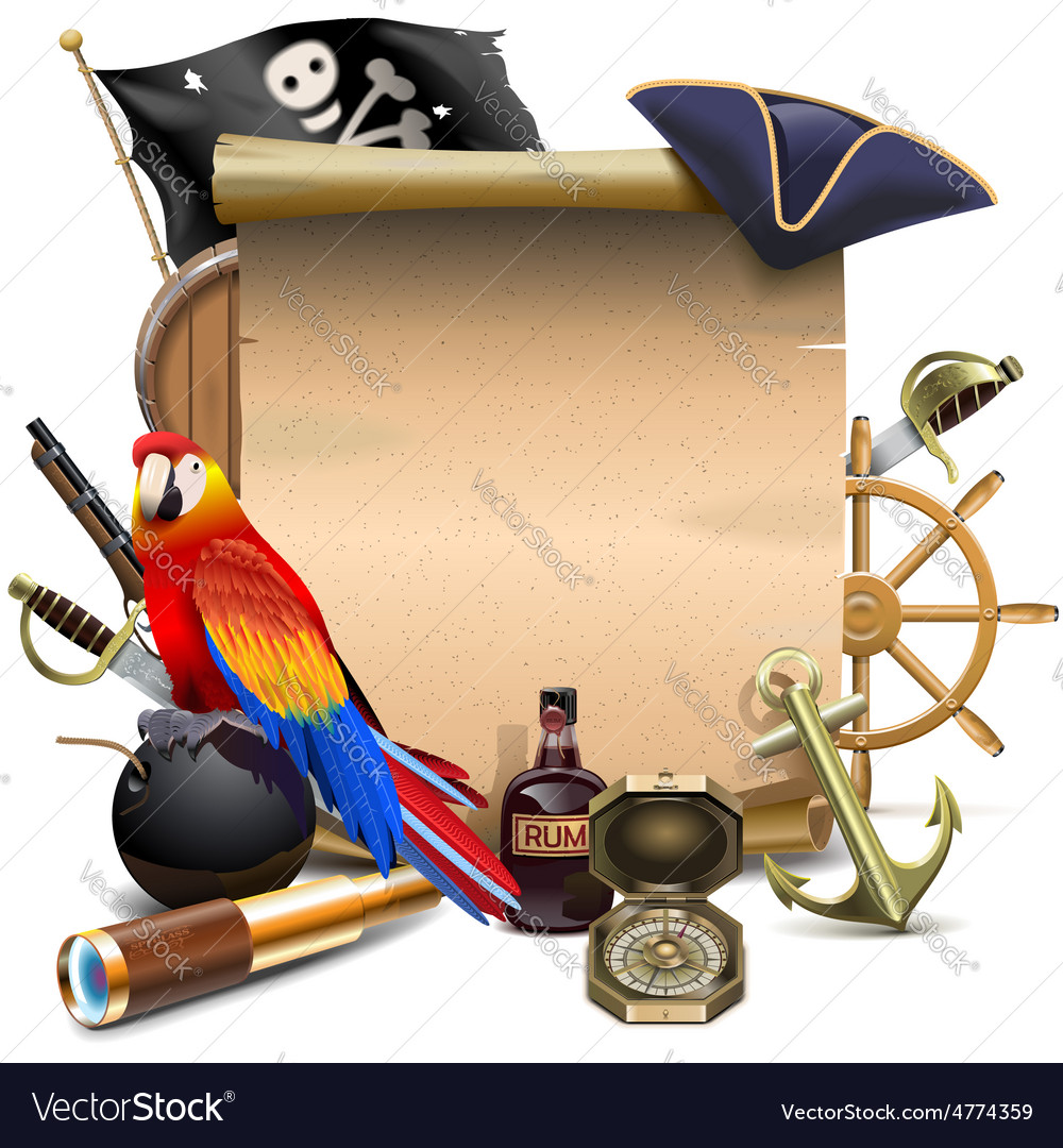 Pirate frame vector | Price: 5 Credit (USD $5)