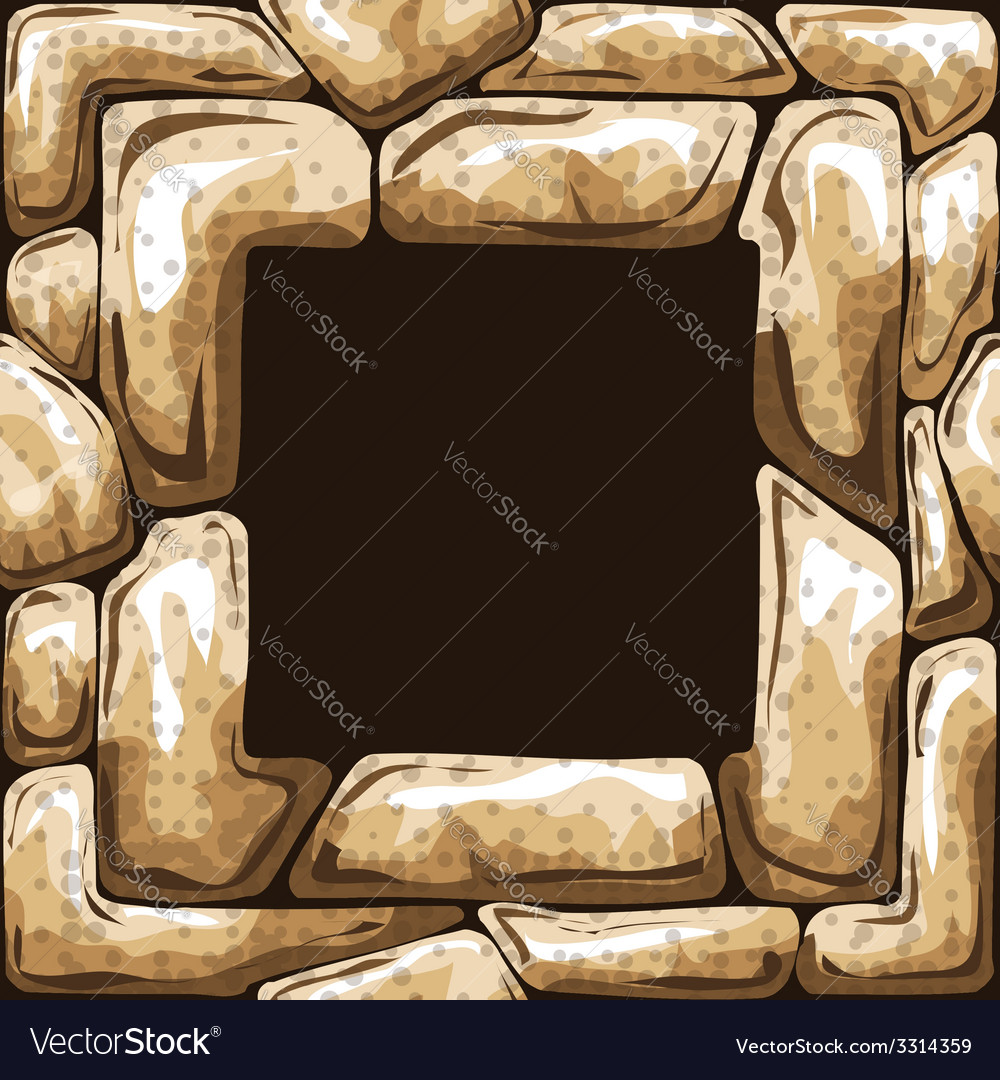 Square frame on stone seamless pattern vector | Price: 1 Credit (USD $1)
