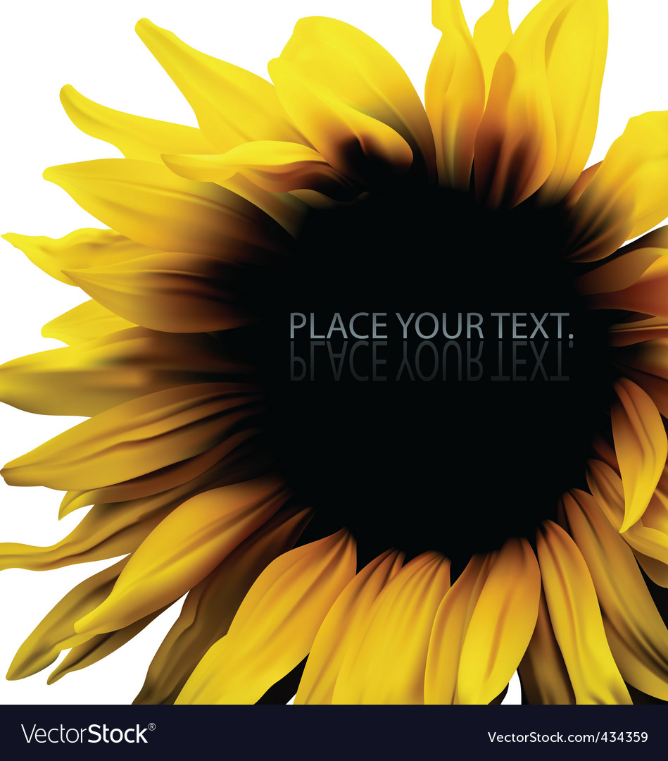 Sunflower background frame vector | Price: 1 Credit (USD $1)