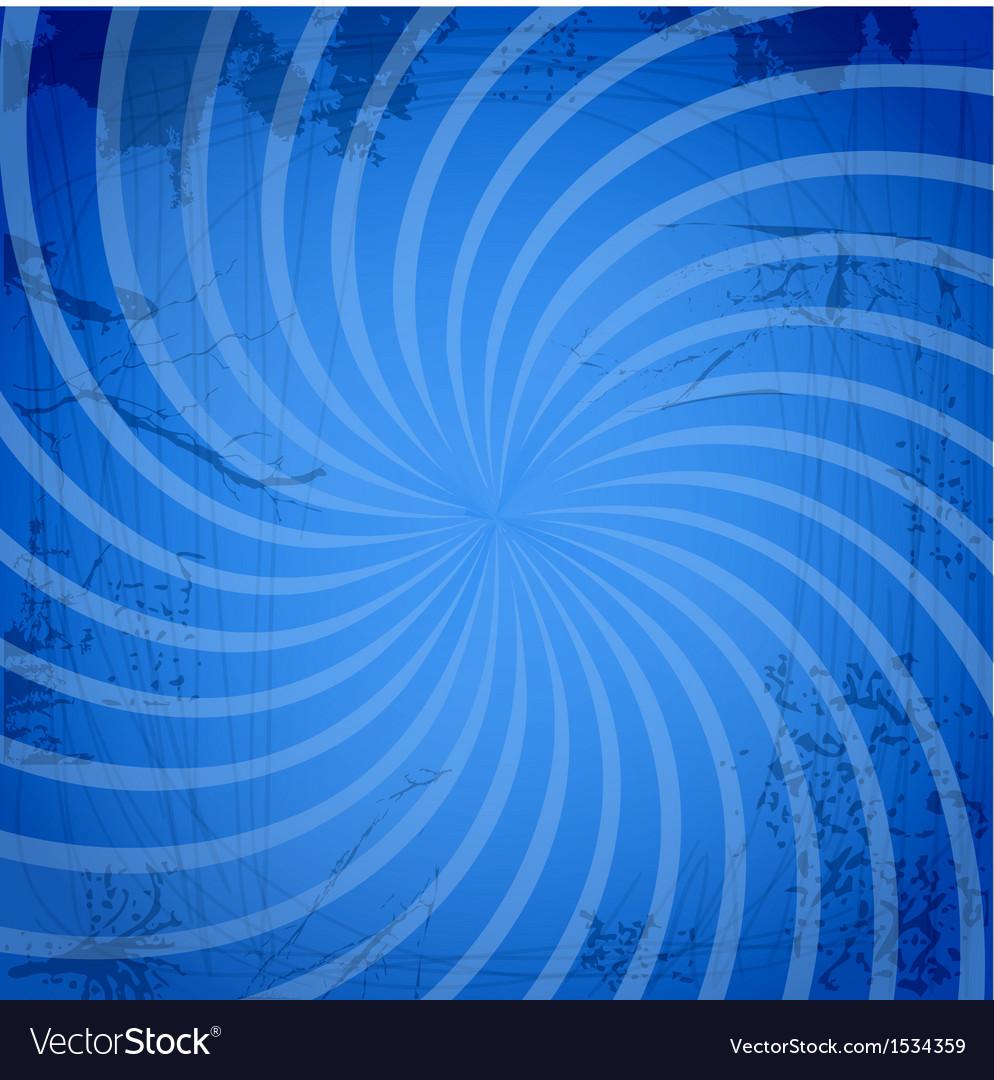 Vintage spiral blue background vector | Price: 1 Credit (USD $1)