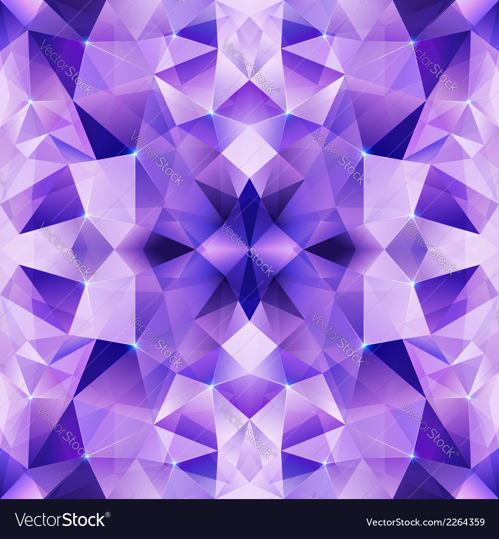 Violet crystal abstract seamless pattern vector | Price: 1 Credit (USD $1)