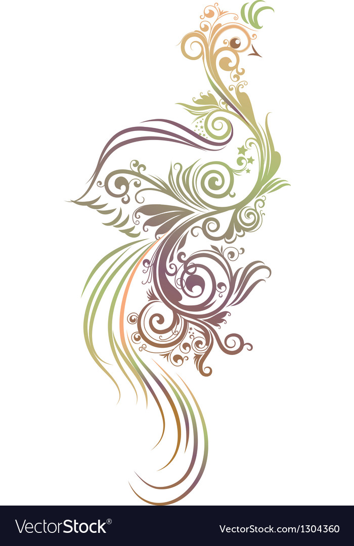 Abstract bird vector | Price: 1 Credit (USD $1)
