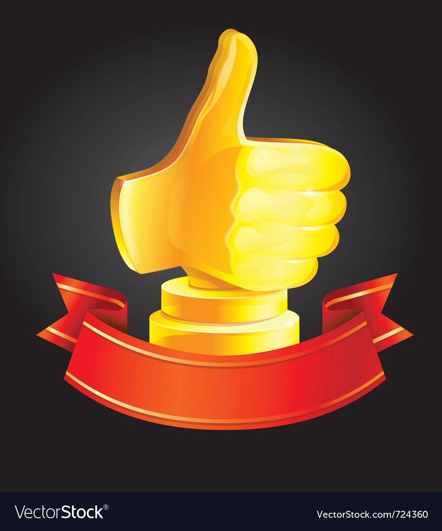 Best choice award - golden hand - vector | Price: 1 Credit (USD $1)