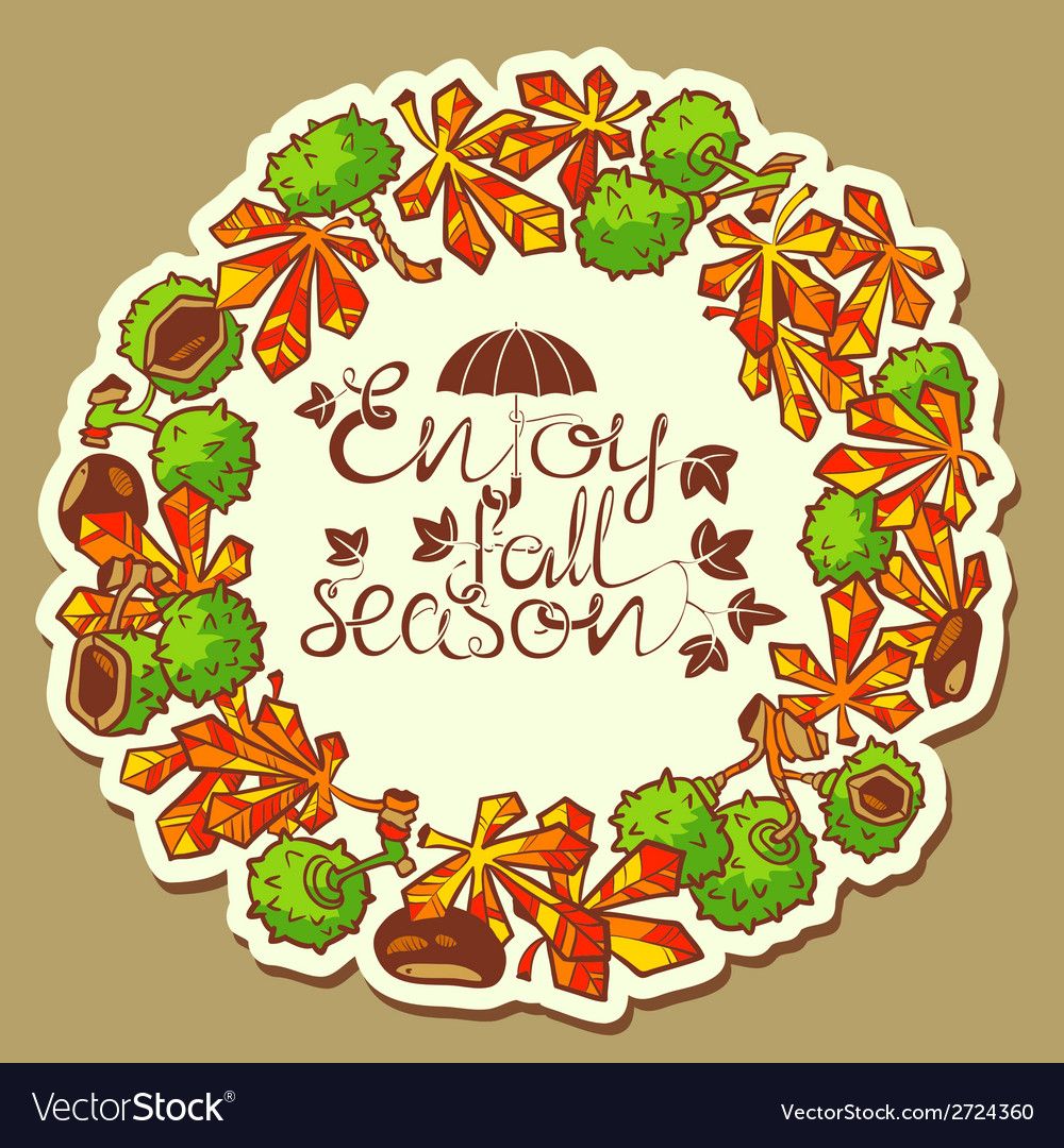 Chestnut wreath vector | Price: 1 Credit (USD $1)