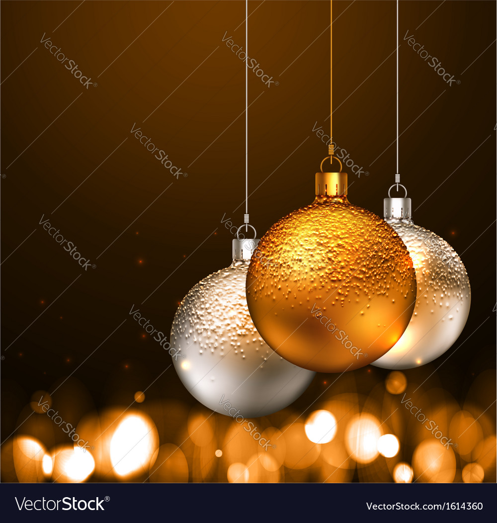 Christmas balls on dark background vector | Price: 1 Credit (USD $1)