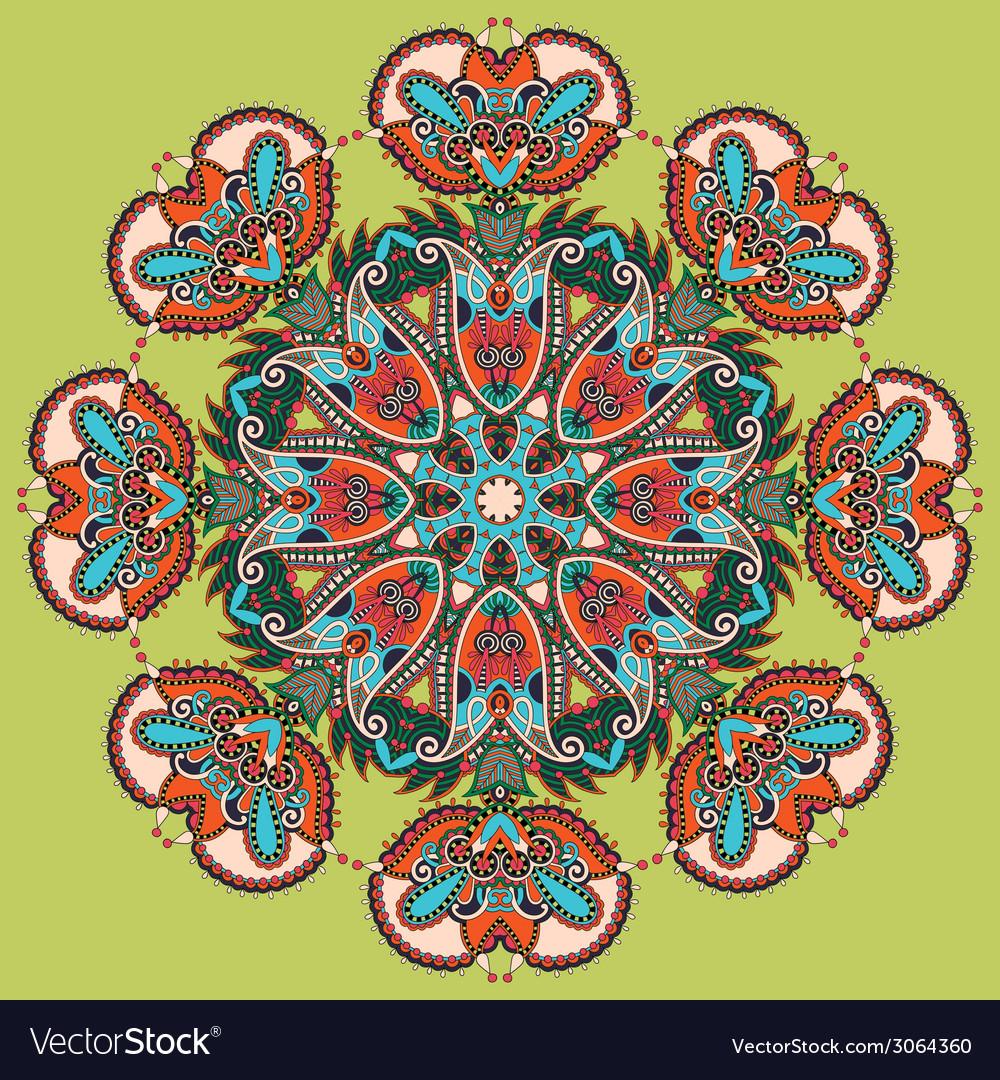 Circle lace ornament round ornamental geometric vector   Price: 1 Credit (USD $1)