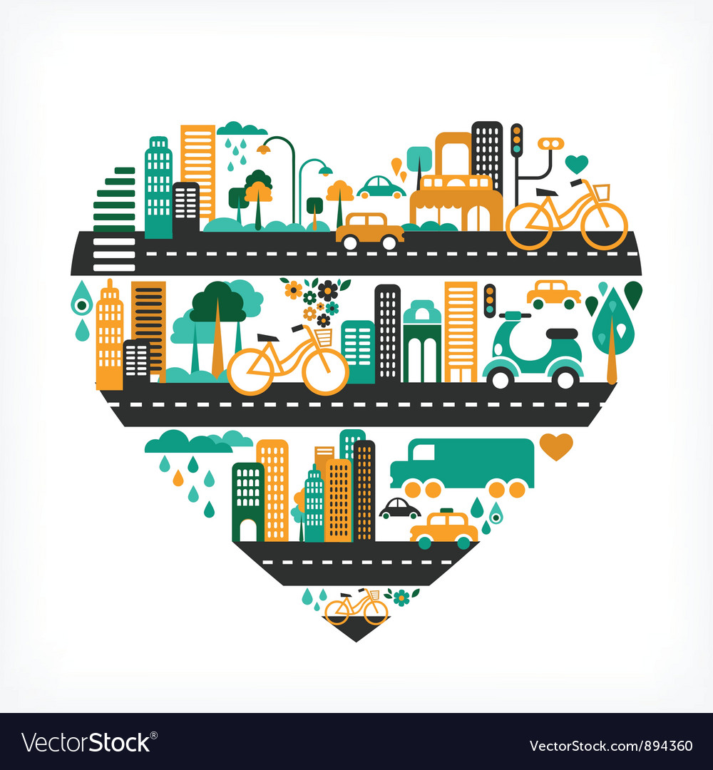City love vector | Price: 3 Credit (USD $3)
