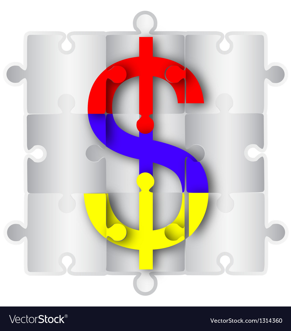 Dollar symbol vector | Price: 1 Credit (USD $1)