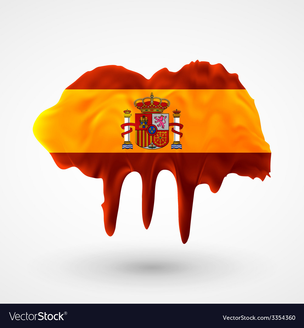 Flag of spain painted colors vector | Price: 3 Credit (USD $3)