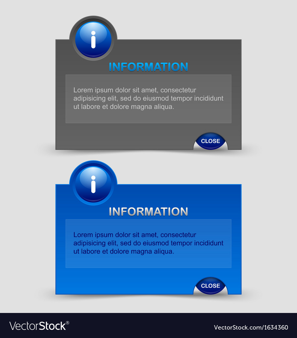 Information notification windows vector | Price: 1 Credit (USD $1)