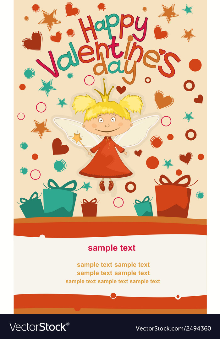 Little love fairy vector | Price: 1 Credit (USD $1)