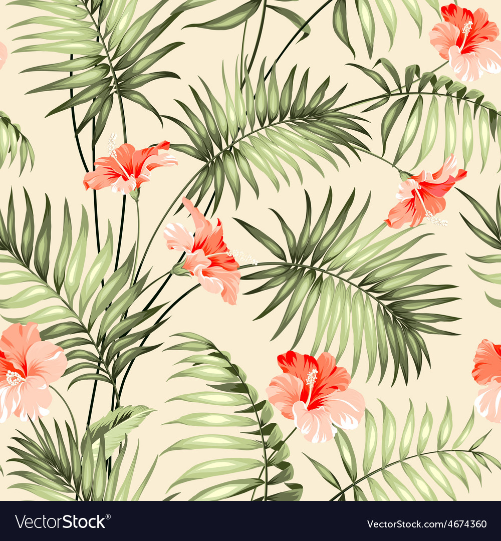 Seamless pattern of a palm vector | Price: 1 Credit (USD $1)