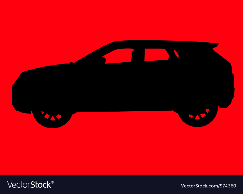 Sport utility vehicle silhouette vector | Price: 1 Credit (USD $1)