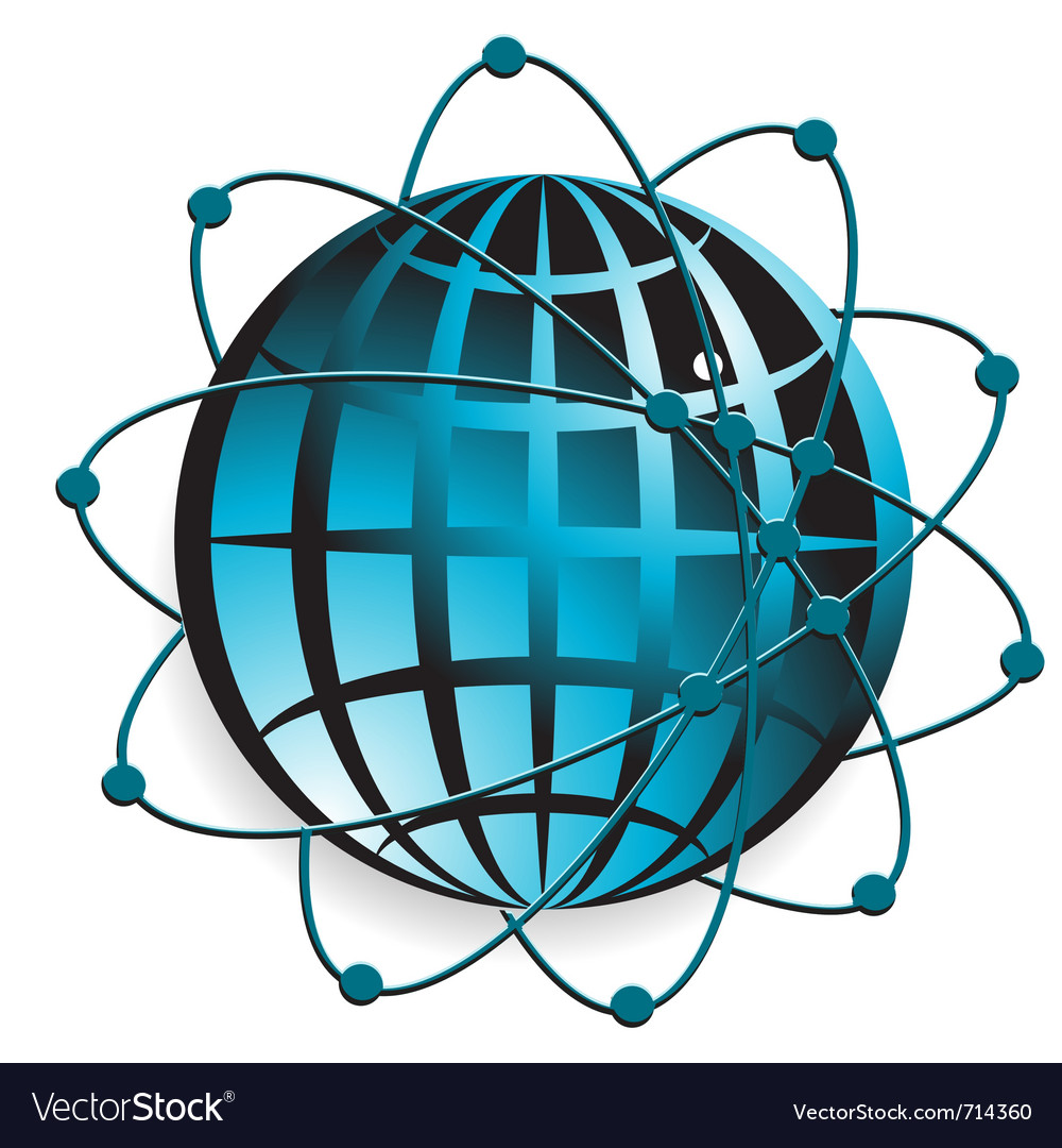 Transparent blue globe vector | Price: 1 Credit (USD $1)