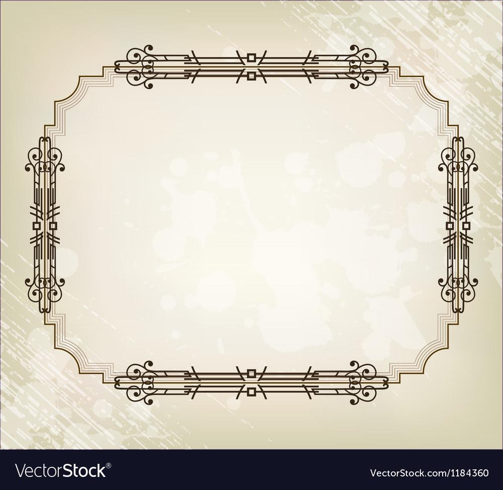 Vintage border frame vector | Price: 1 Credit (USD $1)
