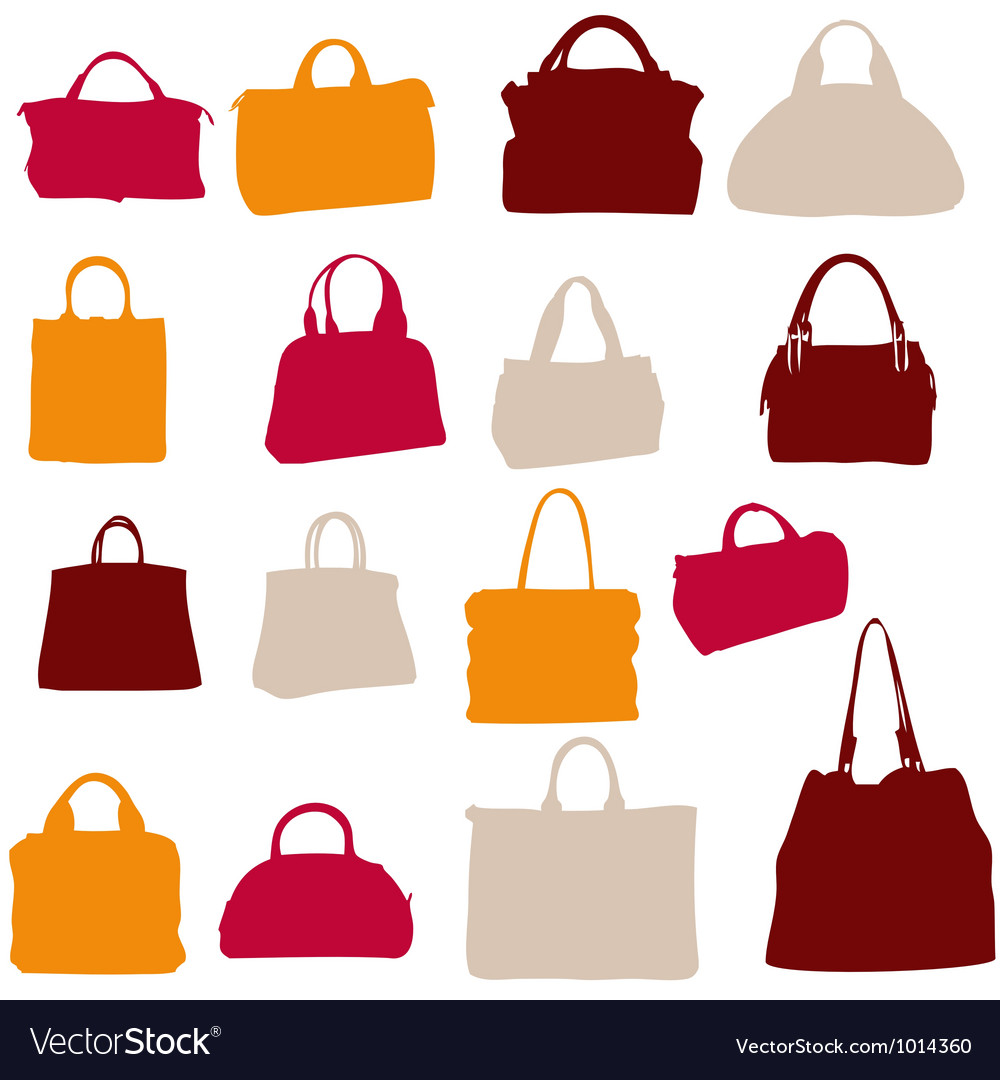 Women bags silhouette vector | Price: 1 Credit (USD $1)