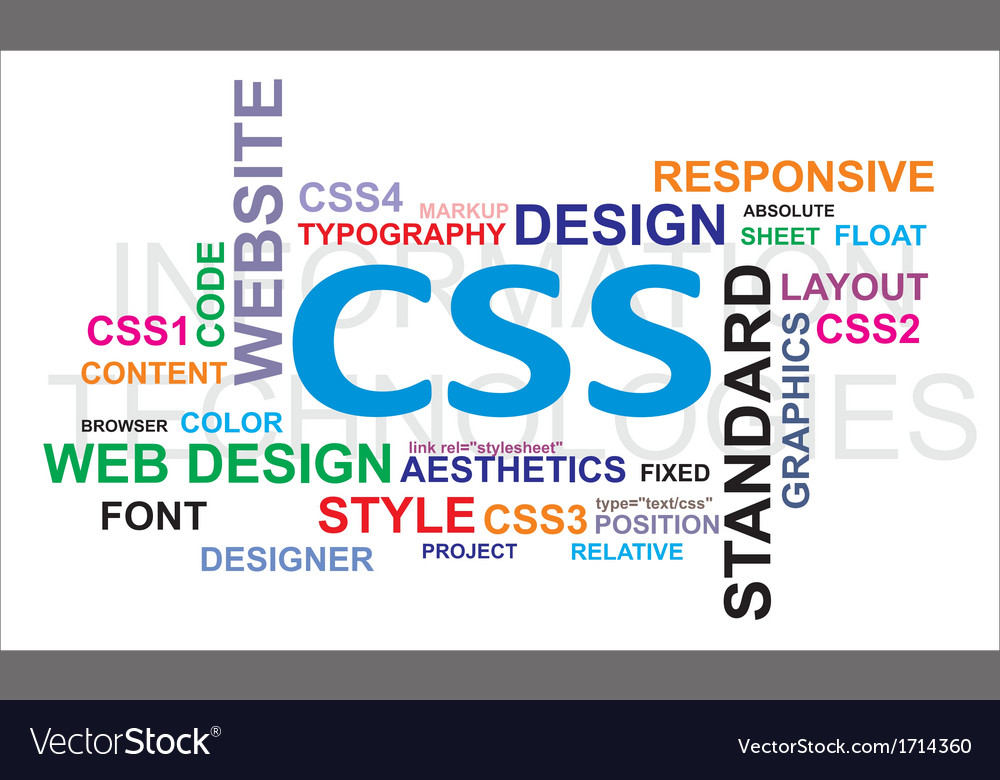 Word cloud css vector | Price: 1 Credit (USD $1)