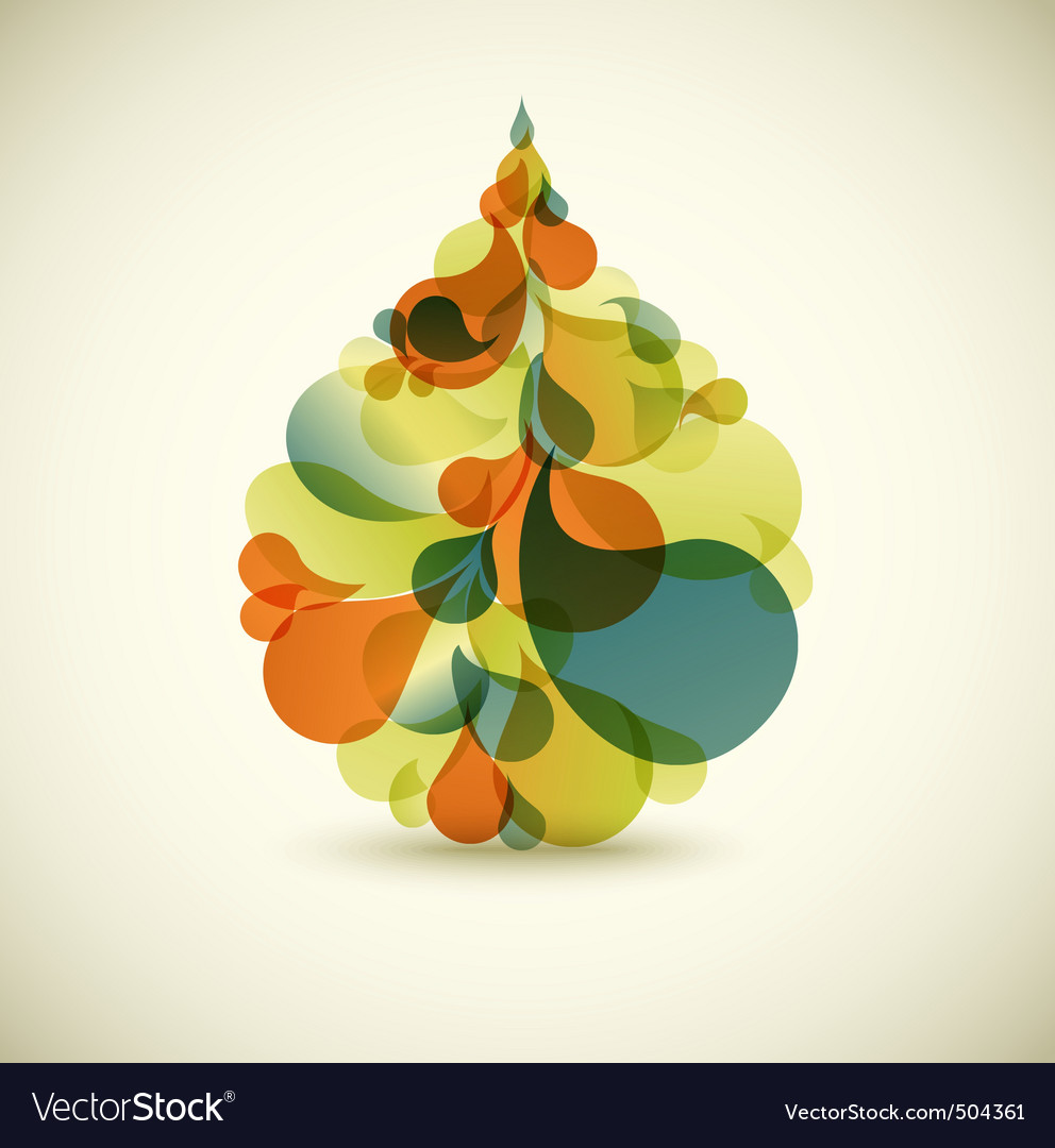 Abstract droplet vector | Price: 1 Credit (USD $1)