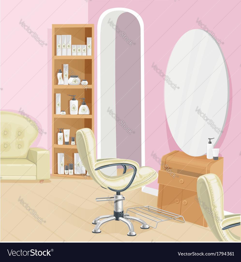 Beauty salon interior vector | Price: 1 Credit (USD $1)